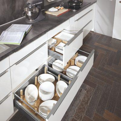 Pregrade za krožnike v funkcionalni kuhinji