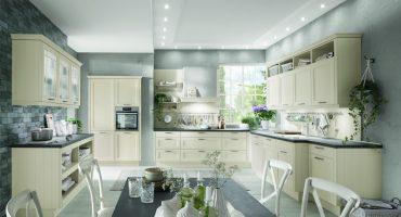 Rustikalna kuhinja v barvi magnolije | kuhinja po meri