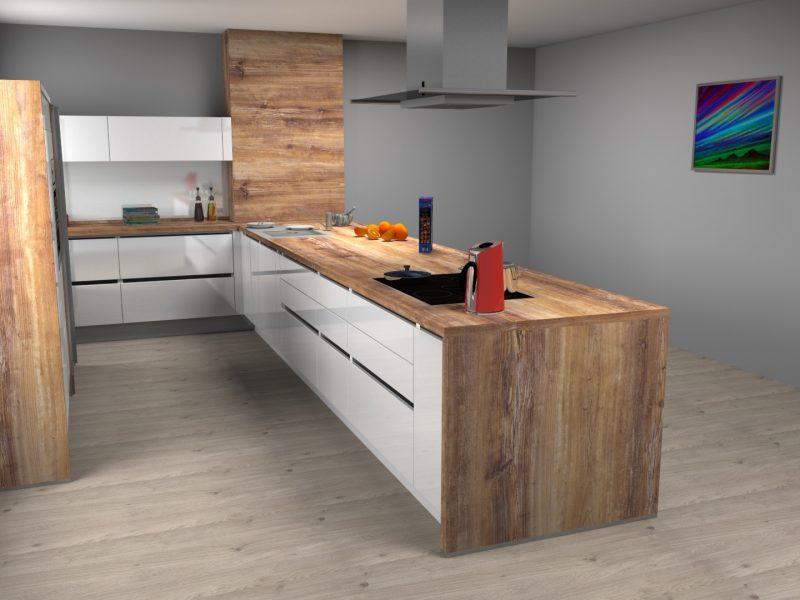 3D izris kuhinje po meri-Aljina kuhinja (2)