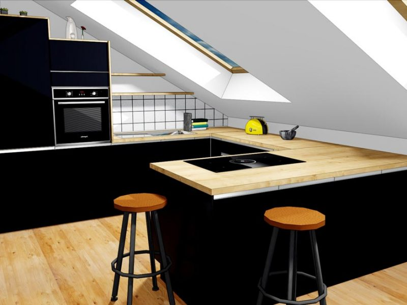 render-3D-izris-kuhinje-crna-kuhinja-web