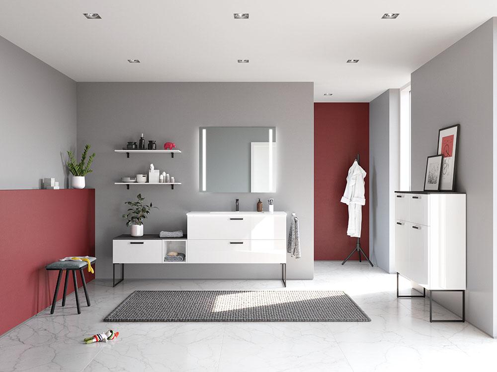 moderna kopalnica belo