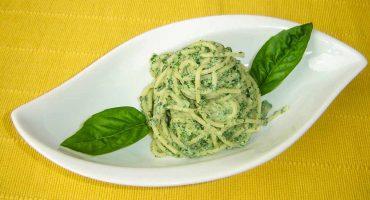 Gratinirani spageti s spinaco